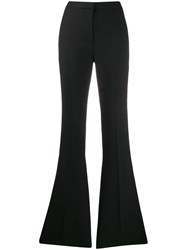 Alexander Mcqueen High Rise Flared Tailored Trousers Black