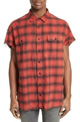 R 13 Men's R13 Oversize Plaid Flannel Shirt
