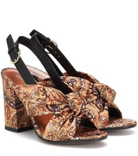 Etro Printed Satin Sandals Multicoloured