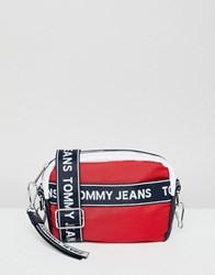 Tommy Jeans Camera Bag With Logo Tape Straps Multi