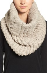 Nirvanna Designs Women's Oversize Cable Knit Wool Infinity Scarf Oatmeal
