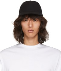 Christian Dada Black Wool Lace Up Cap