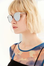 Urban Outfitters Cosmic Cat Eye Sunglasses Silver