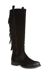 Steve Madden 'Dallton' Tall Fringe Boot Women Black