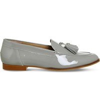 Office Petra Patent Leather Loafers Light Grey Patent