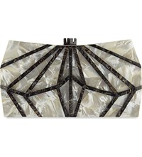 Nathalie Trad Xestia Mother Of Pearl Box Clutch