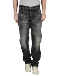 Care Label Denim Pants Black