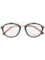 Carrera Round Frame Glasses Brown