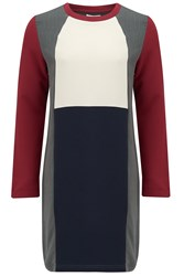 Almost Famous Colour Block Dress Burgundy