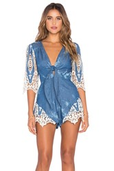 Jens Pirate Booty Forget Me Not Romper Blue