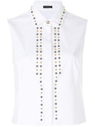 Versace Sleeveless Studded Shirt White