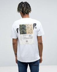 10.Deep T Shirt With Back Patch White