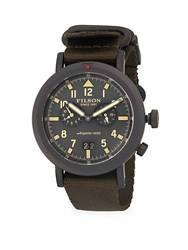 Filson Scout Dual Time Stainless Steel Strap Watch
