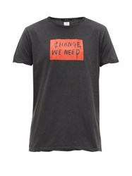 Ksubi Change We Need Print Cotton T Shirt Black