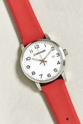 Wenger Avenue Silicone Strap Watch Red