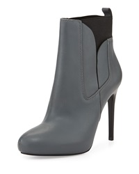 Charles David Yadira Leather High Heel Bootie Grey