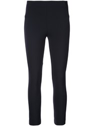 Veronica Beard Zip Back Cropped Trousers Blue