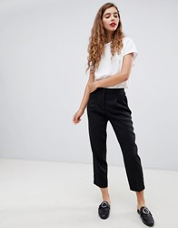 Monki Peg Trousers Black