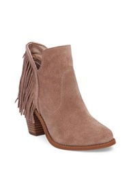 Jessica Simpson Cecila Suede Ankle Boots Taupe