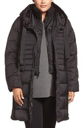 Tahari Plus Size Women's Quinn Hooded Down And Feather Coat