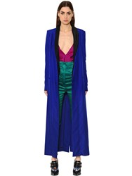 Haider Ackermann Wrap Silk Pique Long Coat