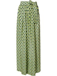 Tome Geometric Print 'Karate' Trousers Green