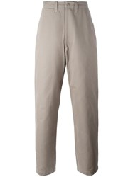 E. Tautz 'Field' Wide Leg Trousers Grey
