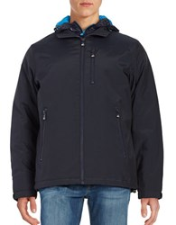 Vry Wrm Long Sleeve Hooded Jacket Winter Navy