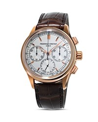 Frederique Constant Flyback Chronograph Manufacture 42Mm Silver Brown