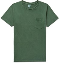 Velva Sheen Slim Fit Cotton Jersey T Shirt Green