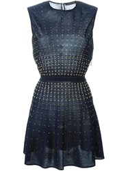 Roberto Cavalli Beaded Flared Dress Blue