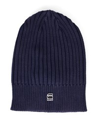 G Star Navy Wydo Cotton Knit Hat Blue
