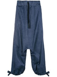 Lost And Found Ria Dunn Dropped Crotch Trousers Blue