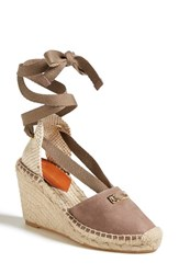 Women's Diane Von Furstenberg 'Marcelle' Espadrille Wedge Sandal Mushroom Leather