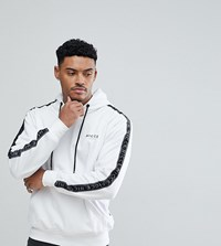 Nicce London Hoodie With Side Stripes White