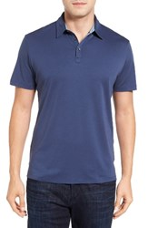Robert Barakett Men's Batiste Pima Cotton Polo Blue Danube