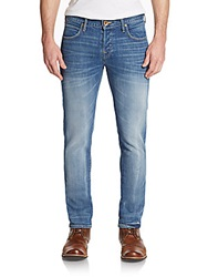 True Religion Rocco Button Fly Slim Fit Jeans Light Blue