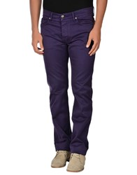 Fay Trousers Casual Trousers Men Purple