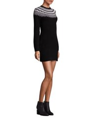 Vineyard Vines Yoke Fairisle Sweater Dress Jet Black