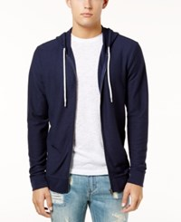 American Rag Men's Full Zip Hoodie Created For Macy's Basic Navy