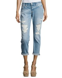 Hudson Riley Crop Relaxed Straight Jeans Indigo