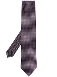 Ermenegildo Zegna Geometric Embroidered Tie