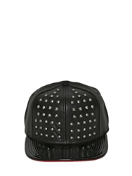 Starter Black Label Heartbreaker Studded Leather Hat Black