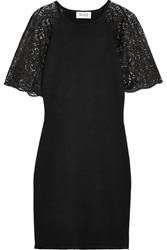 Alice By Temperley Nova Lace Trimmed Cotton Blend Dress Black