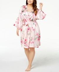 Thalia Sodi Plus Size Floral Print Wrap Created For Macy's Delicate Blooms