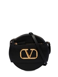 Valentino Garavani Vlogo Leather Circle Bag Black