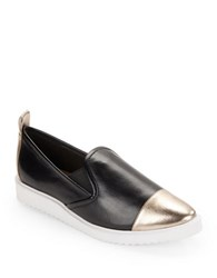 Karl Lagerfeld Cler Cap Toe Slides Black Gold
