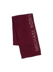 Michael Michael Kors Heat Seal Studded Logo Scarf Red