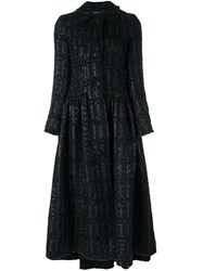 Simone Rocha Tweed Princess Coat Black