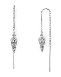 Rebecca Minkoff Pave Spike Threader Earrings Silver